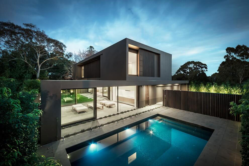 House colors: Amazing modern facade in brown ... on Amazing Modern Houses  id=74976