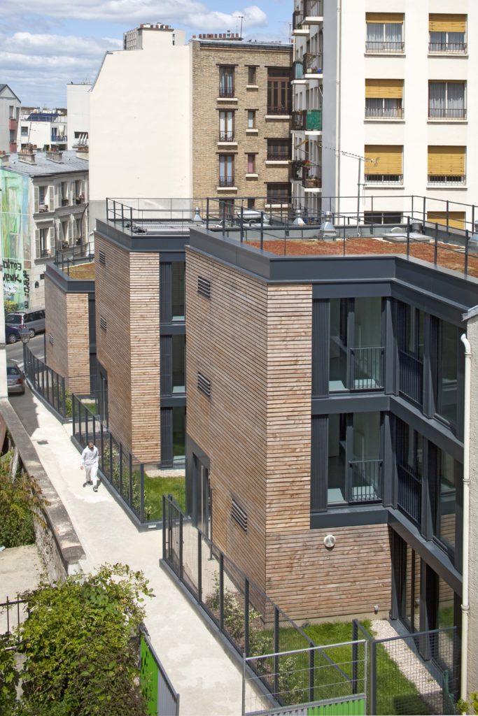 logementns sociaux passifs en bois à Paris