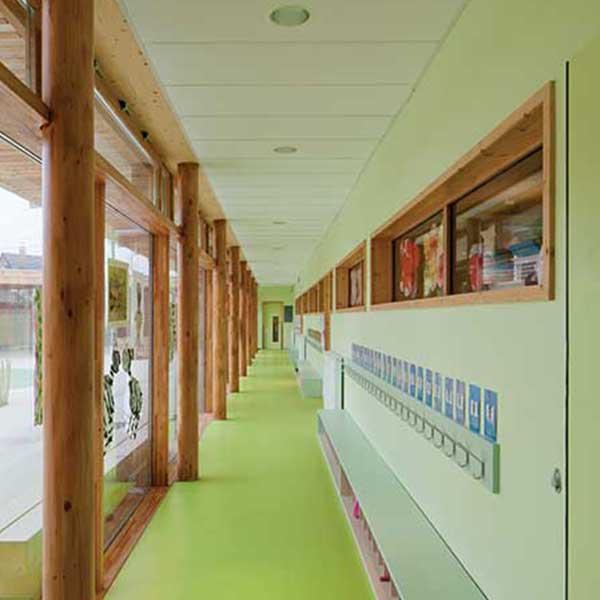Classes et intérieur du groupe scolaire Pasteur © R2K / Holzbau Amann / Gaujardtechnologie scop