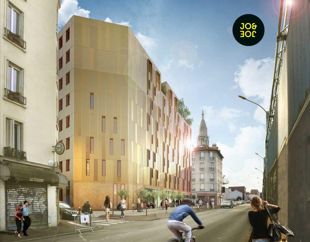 """3D modèle d'hôtelier  AccorHotels """"Bâtiment Bas Carbone"""""""