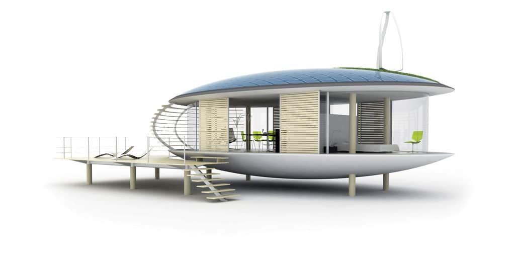 model 3D d'une maison ecologique
