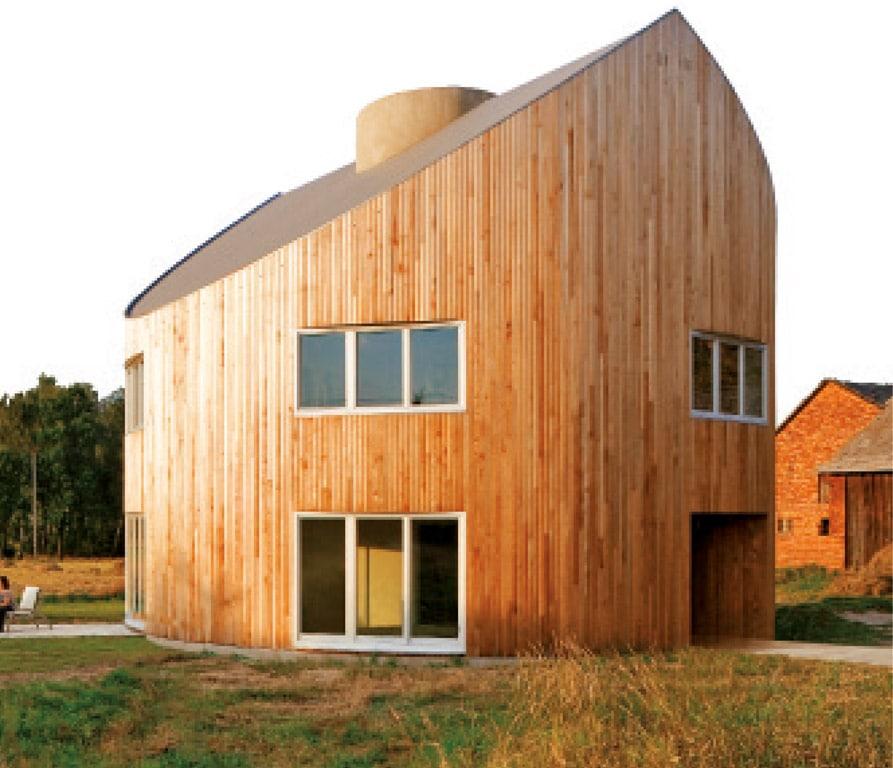 maison bois ronde et bioclimatique