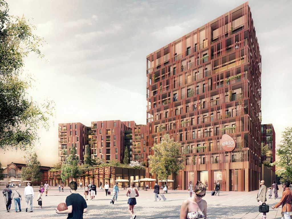 Immeubles en bois La Cartoucherie à Toulouse