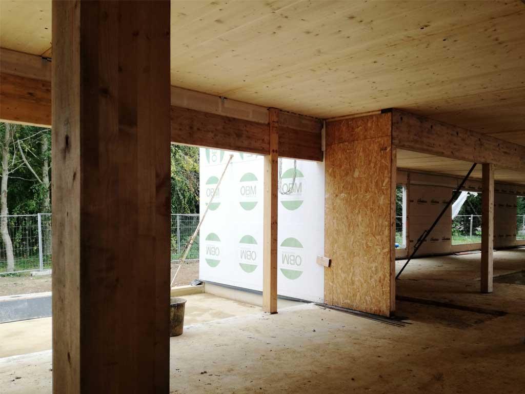 extension en bois d'un maison EHPAD