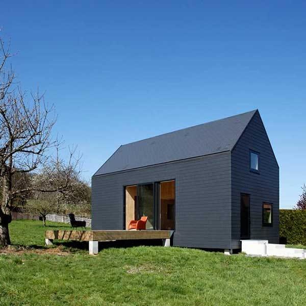 maison en bois massif de vacances en Normandie