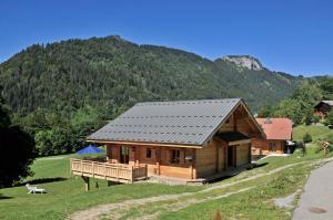 chalet en bois dans les montagnes