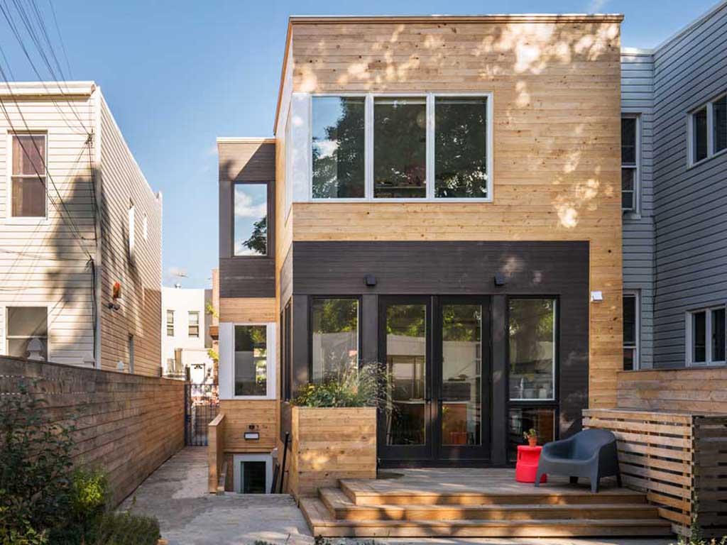 Une maison de ville à ossature bois - BFDO Architects