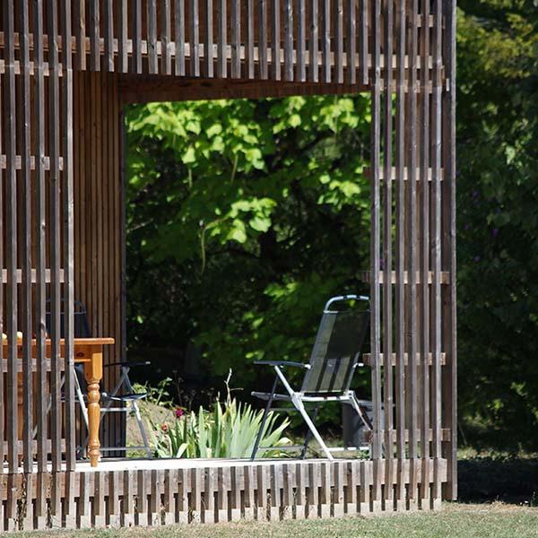 extension bois dans la nature