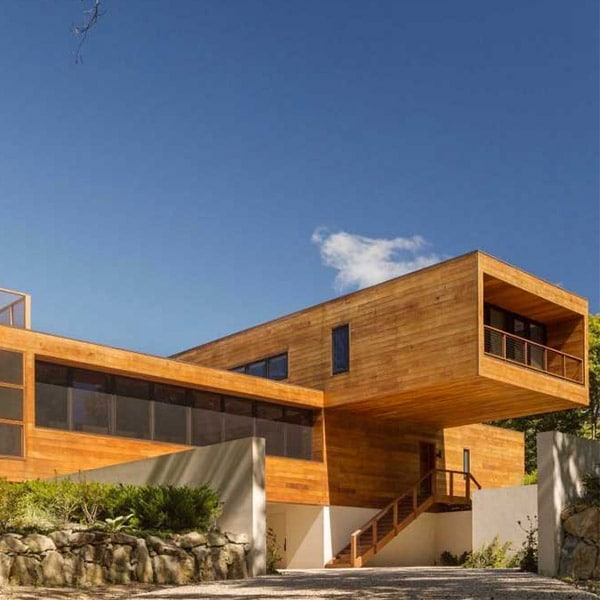 maison en ossature bois moderne