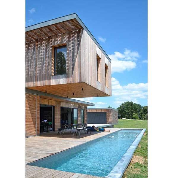bardage maison bois contemporaine