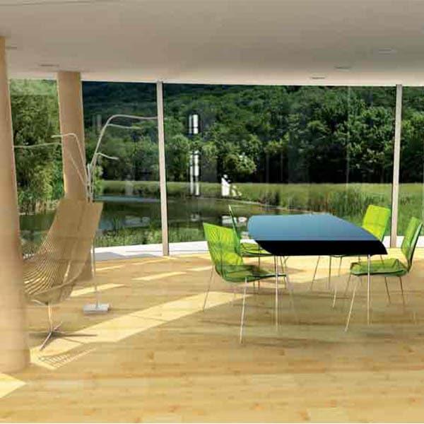 design d'intérieur d'une maison écologique