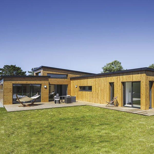 Maison cubique en ossature bois Finistère