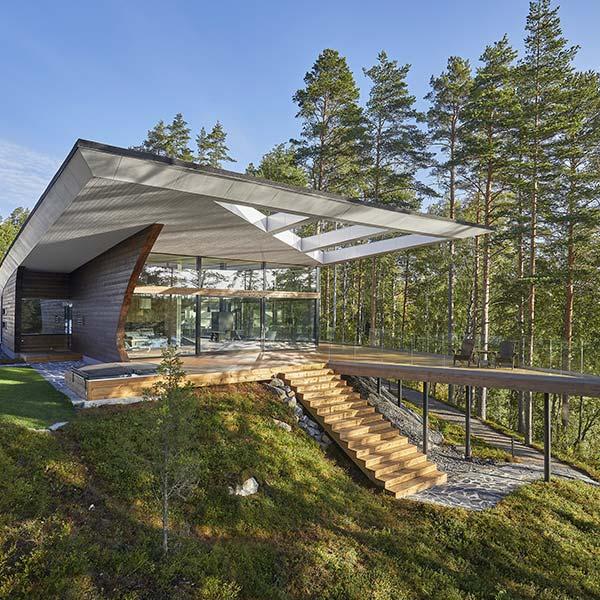 maison en bois massif en Finlande