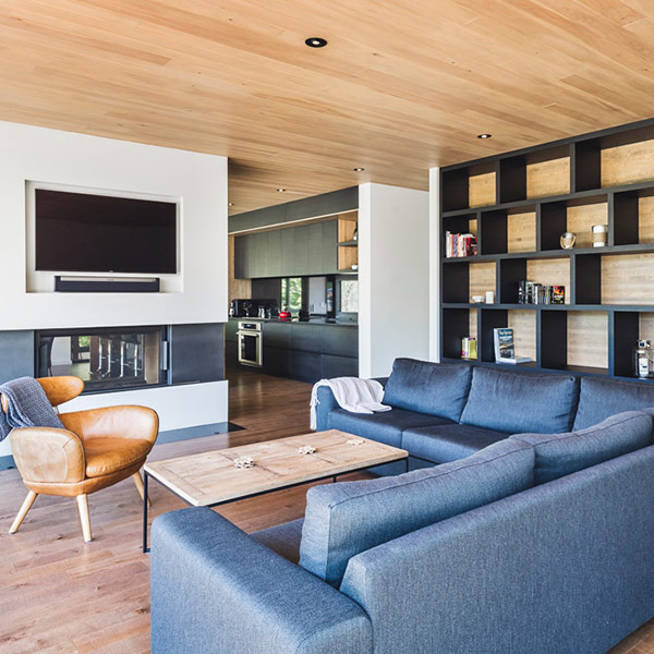 maison bois l'Estrade au Québec
