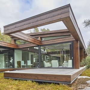Maison bois moderne en Finlande