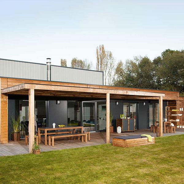maison en ossature bois modern