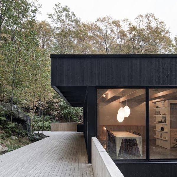 maison bois avec terrasse en bois