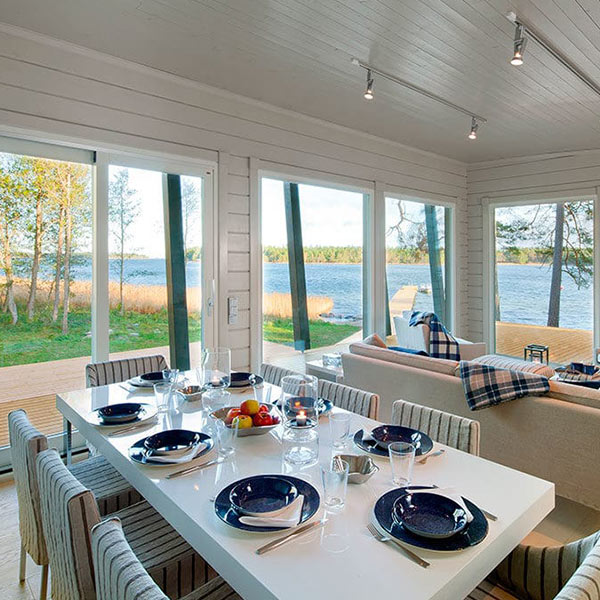 maison en bois scandinave en Finlande