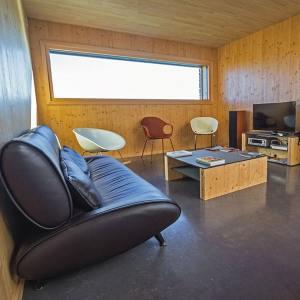 séjour en bois d'une maison bois