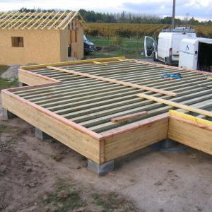 fondation dalle bois