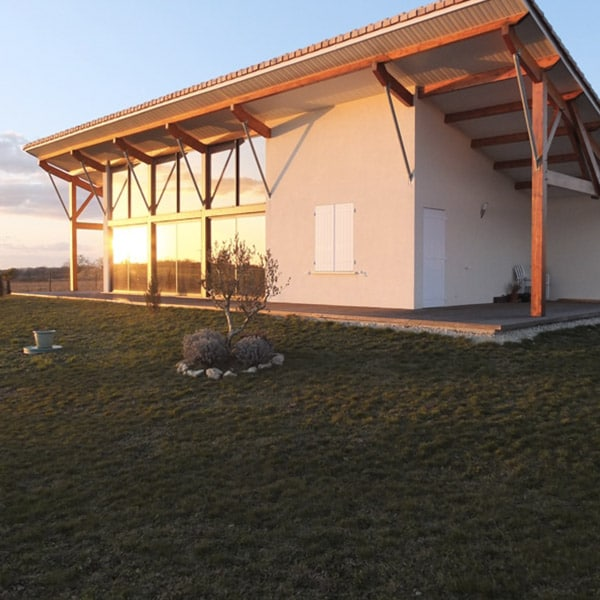 maison en bois bioclimatique à Brie