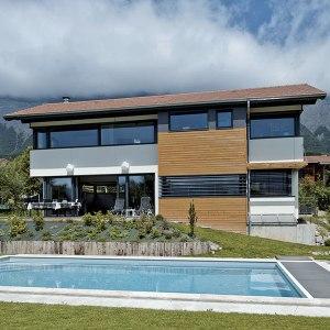 Maison contemporaine à ossature bois - Thierry Alicot
