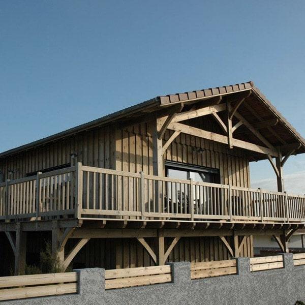 Maison et surélévation en ossature bois - G. Pallas Construction Bois