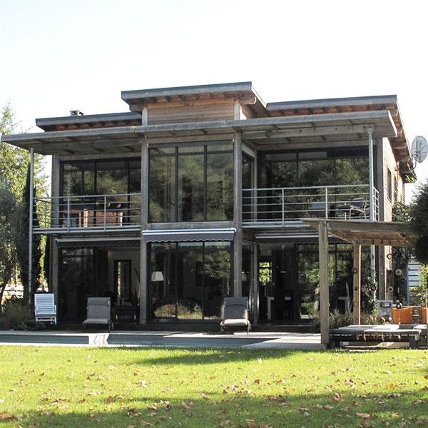 Maison à ossature bois en Pin maritime - Pascal Lorin