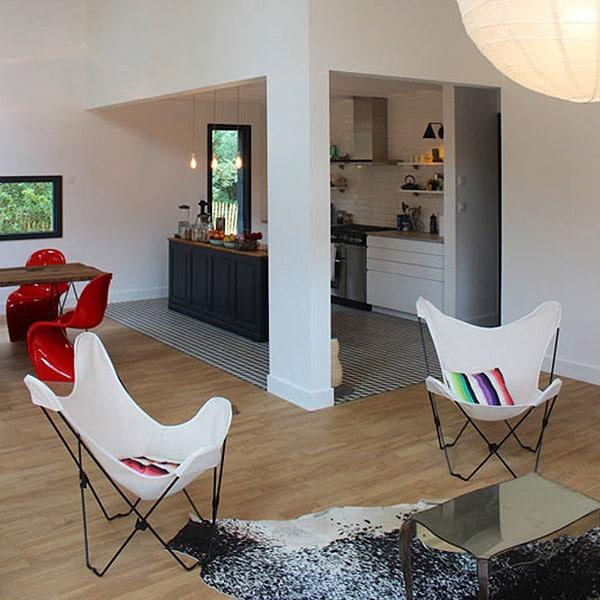aménagement intérieur d'une maison en bois en Vendée