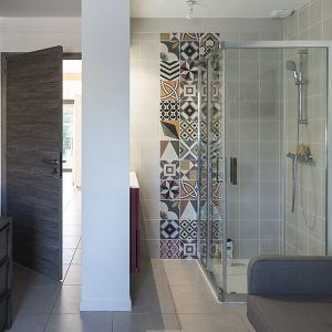 salle de bains dans maison bois
