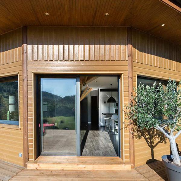 maison bois rounde en Savoie