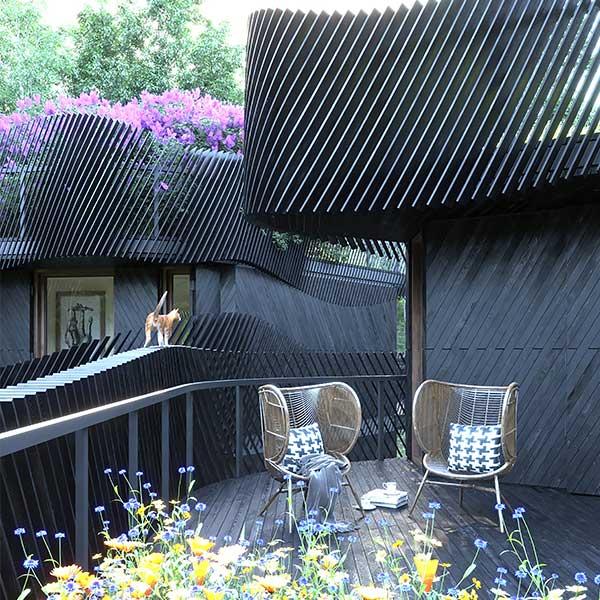 immeuble de future organique et flexible
