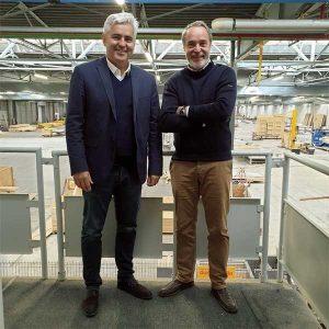Les deux fondateurs d'e-Loft, Philippe Roué et Édouard Lefebure