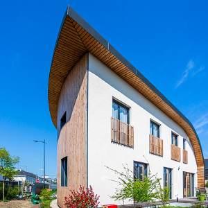 Une maison bois aux courbes originales dans le Maine-et-Loire