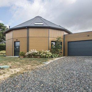 Maison ossature bois 14 pans dans Maine-et-Loire