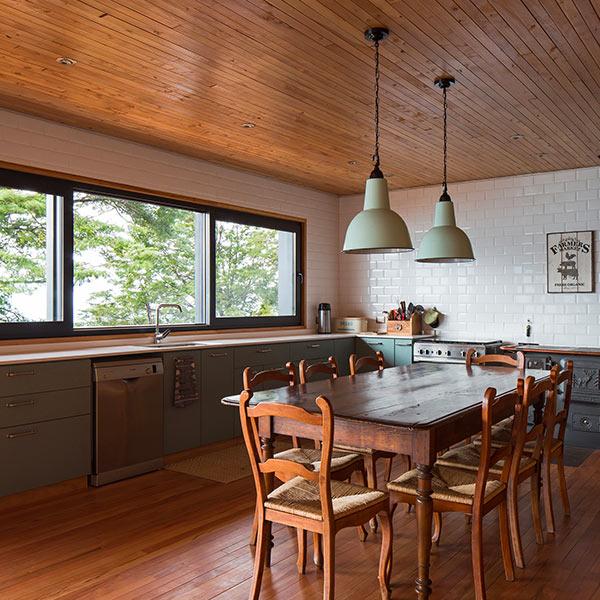 cuisine ouverte en bois