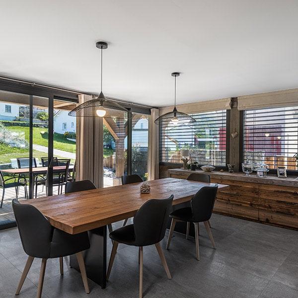 design du salle à manger en bois