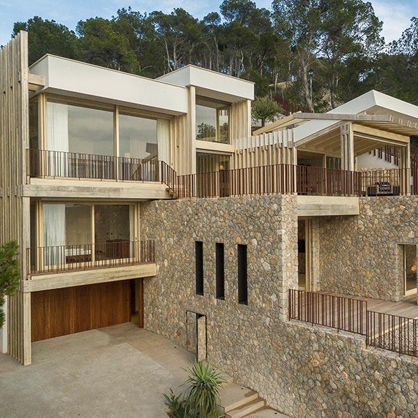 villa méditerranéenne en bois Accoya