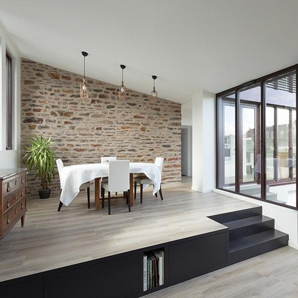 design pour salle à manger dans maison bois