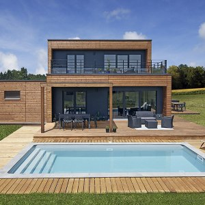 maison bois de style pool house - Booa