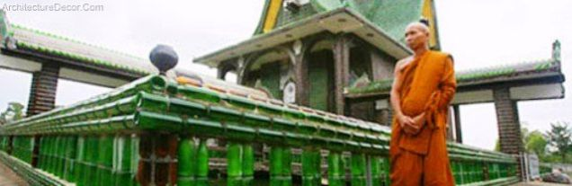 Green Architecture-Thai Temple Built From One Million Recycled Bottles