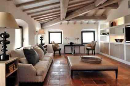 Luxury Italian Villa-rustic italian living room