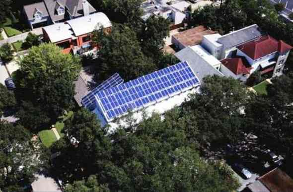 Sustainable Projects-Solar sufficient LEED home in Houston