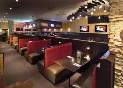 dark colors and minimalist design restaurant interior design