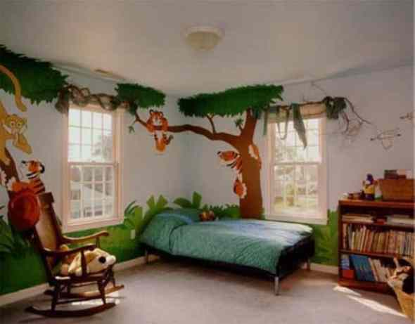 Decoration kids room with jungle theme