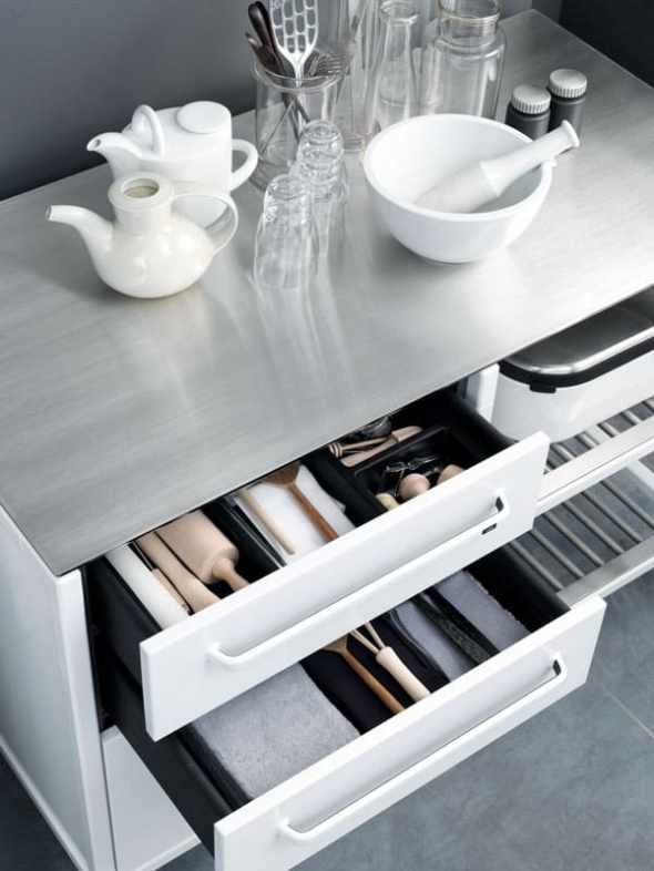 The inner of vipp kitchen cupboard