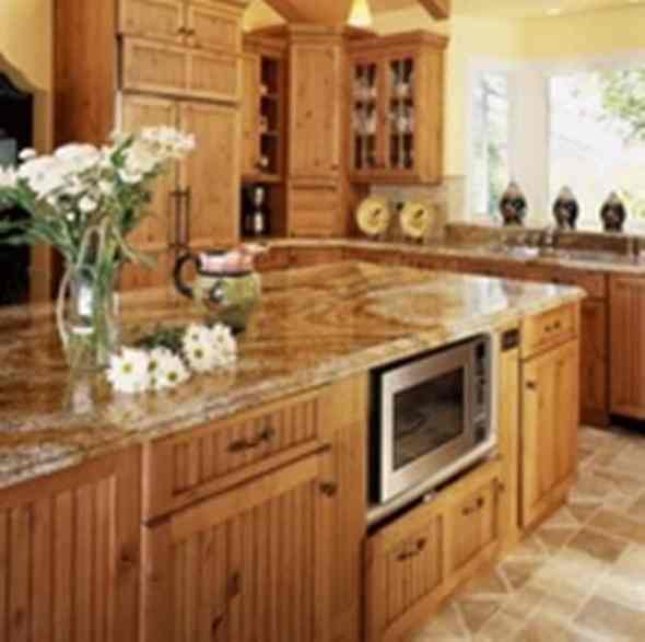 country kitchen with traditional kitchen cabinets