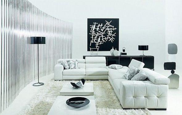 black favorite furniture in white living room