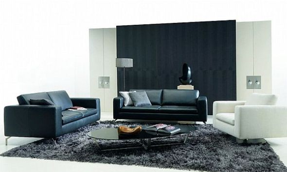 the balance of whote and black for your living room