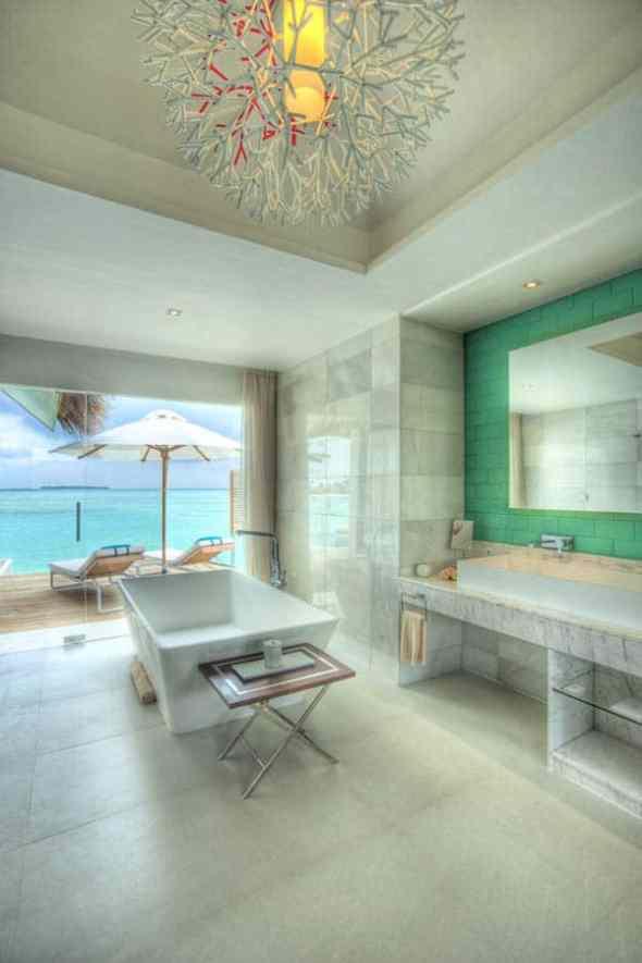 Bathroom Niyama Hotel in the Maldives